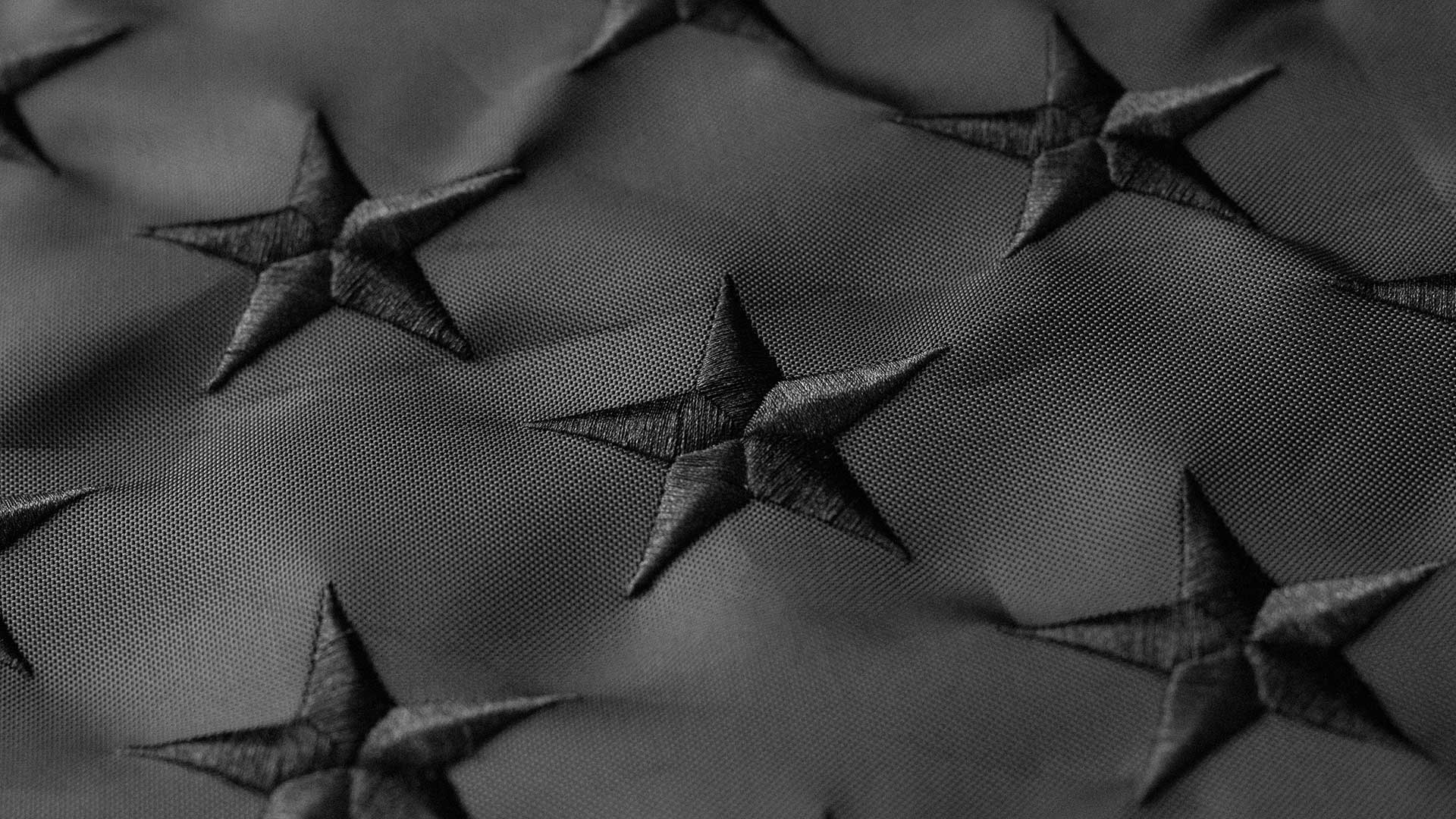 Black American Flag Detail 1