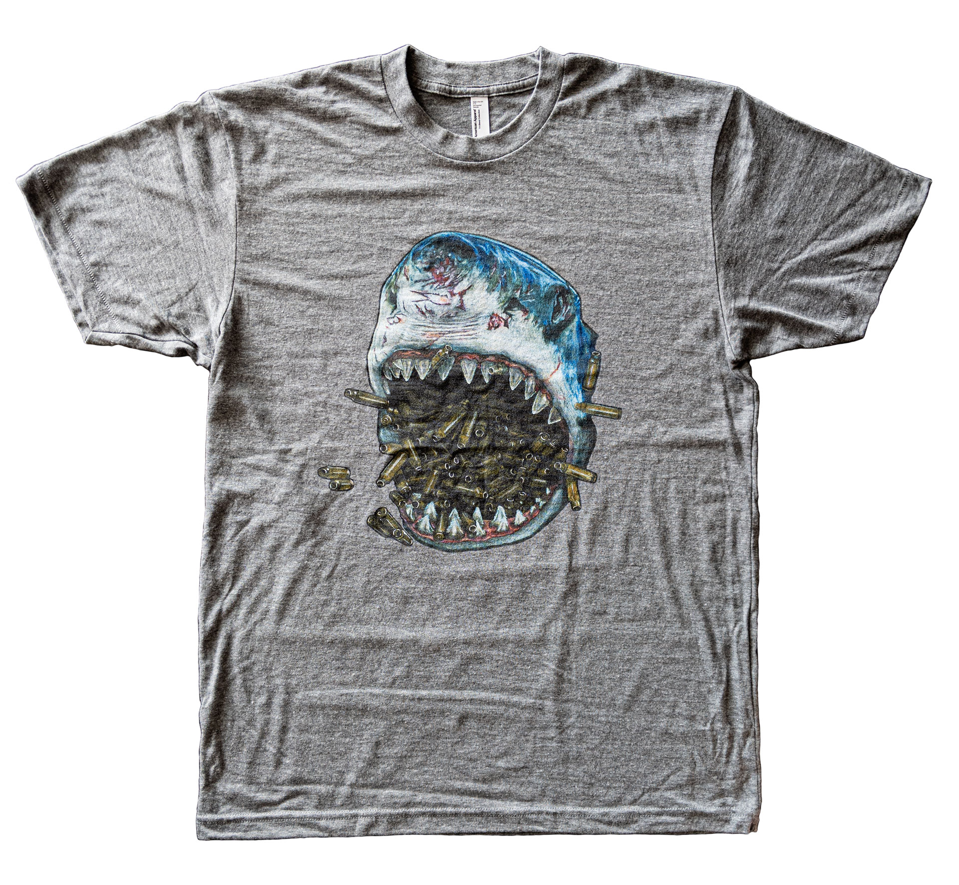 Brass Shark TriGrey T-Shirt