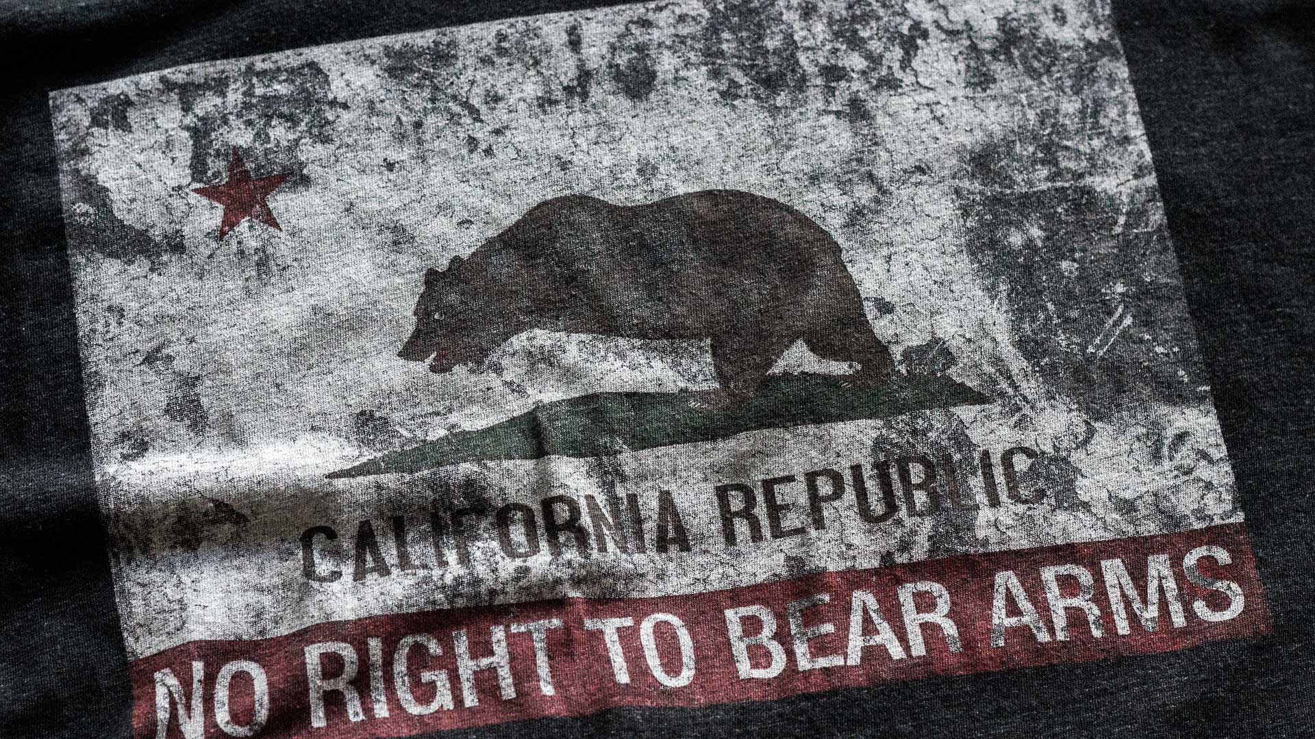 California Flag RKBA Infringed T-Shirt Detail 1