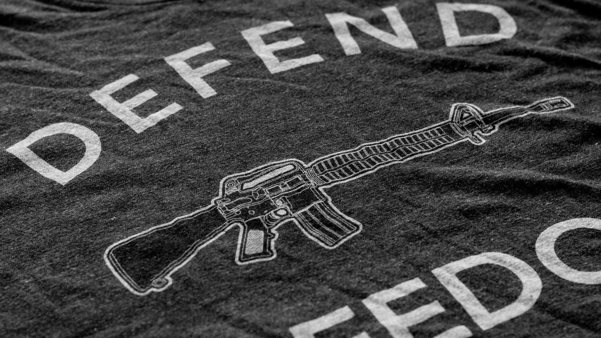 Defend Freedom AR-15 T-Shirt Detail 1