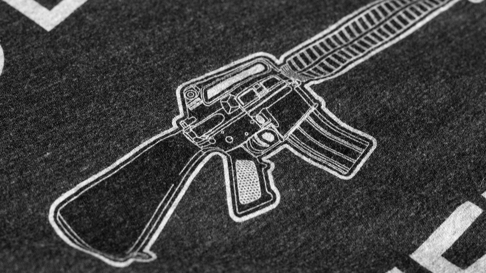 Defend Freedom AR-15 T-Shirt Detail 2