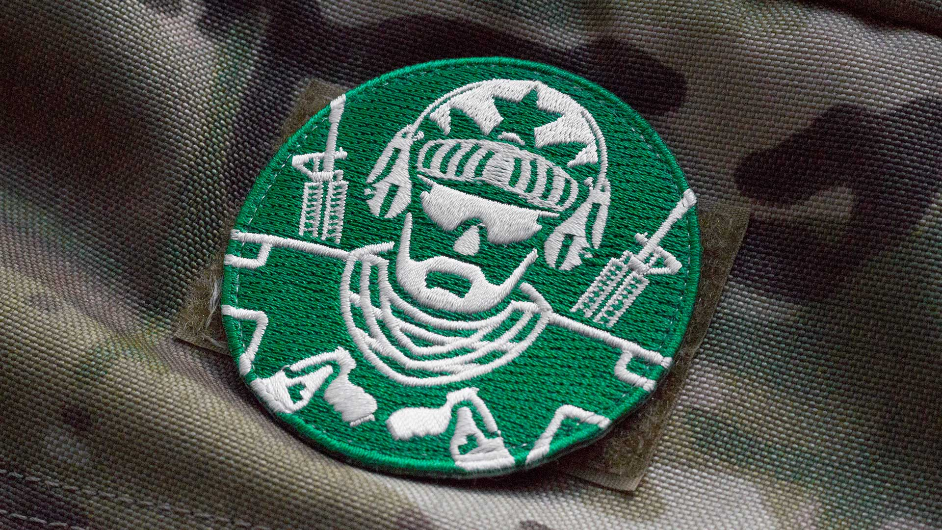 Guns And Coffee Operator Morale Patch Detail 2
