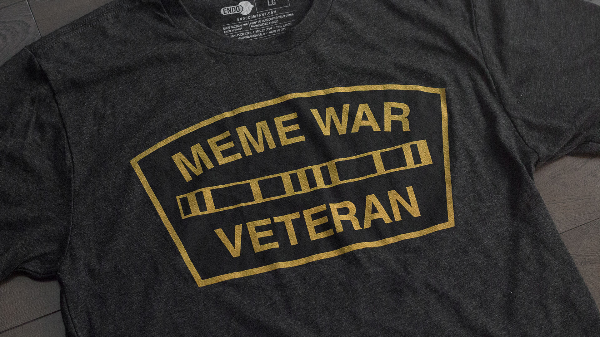 Meme War Veteran Logo T-Shirt Detail 1