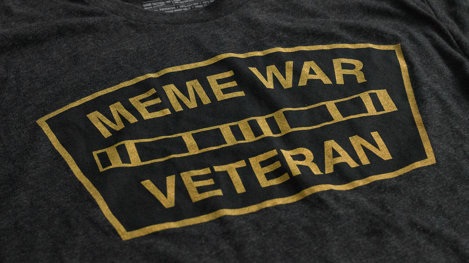 Meme War Veteran Logo T-Shirt Detail 2