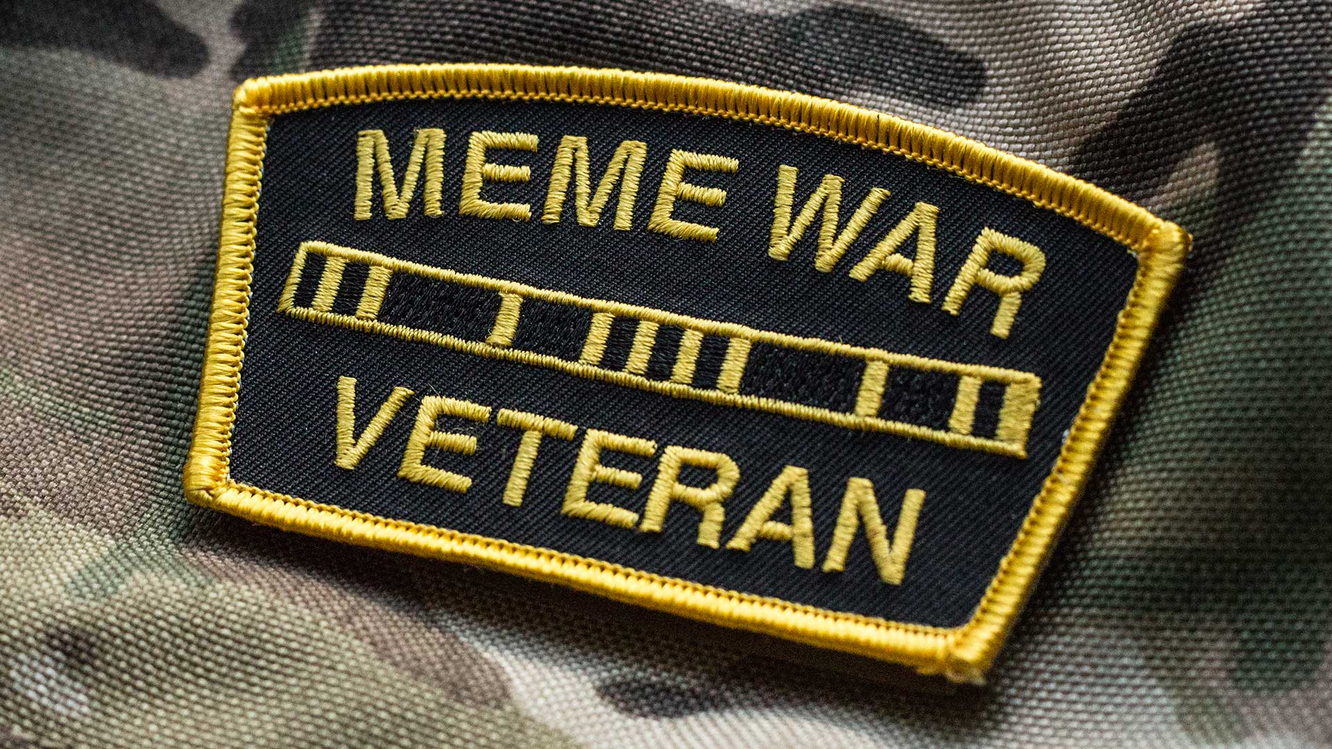 Meme War Veteran Morale Patch Detail 2