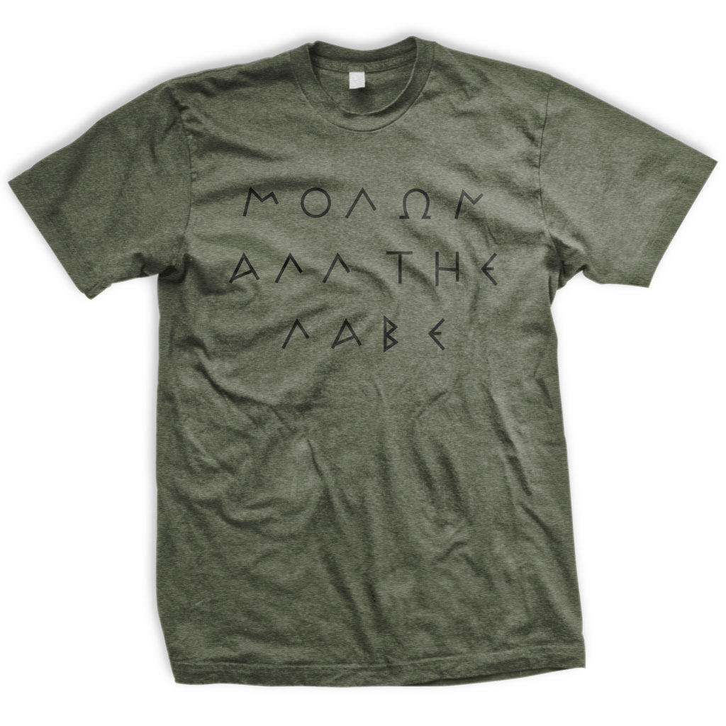 Molon All The Labe T-Shirt Olive