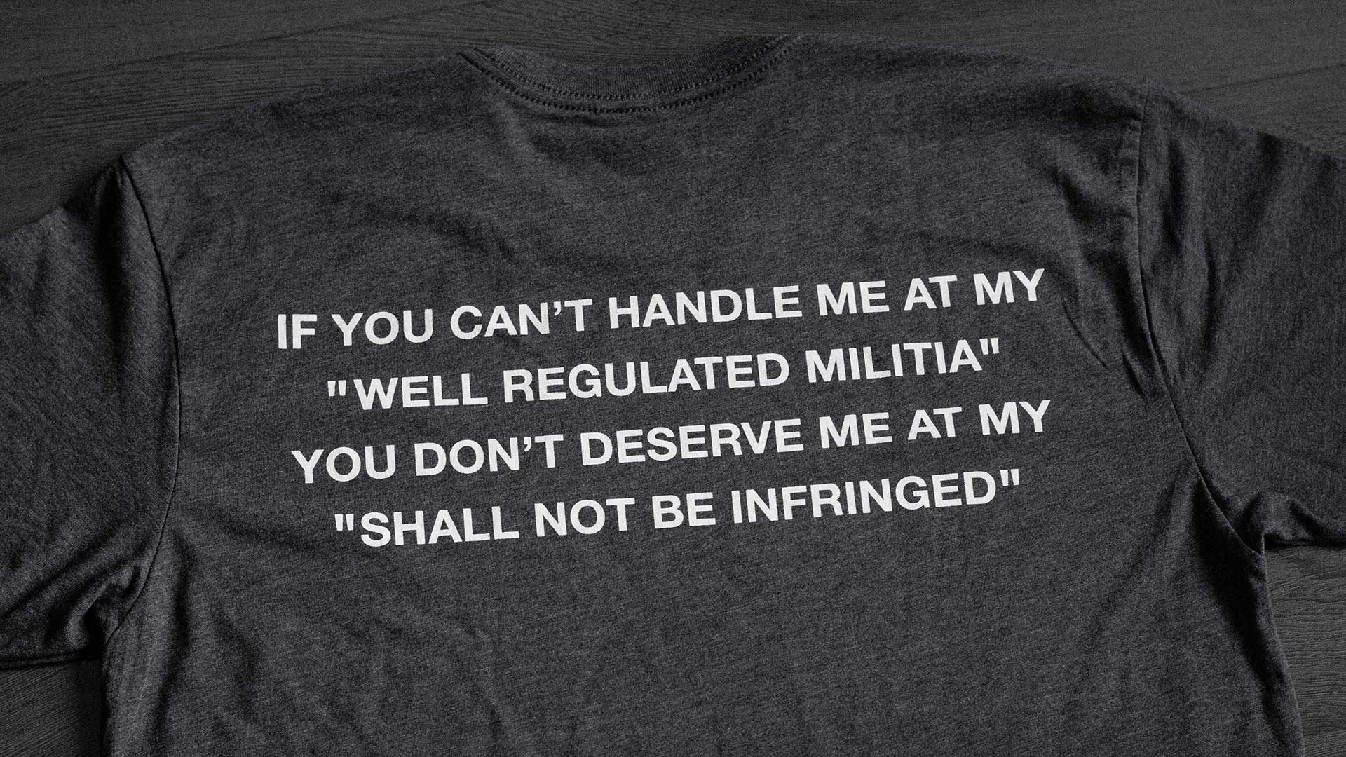 Pro-Second Amendment T-Shirt Detail 2