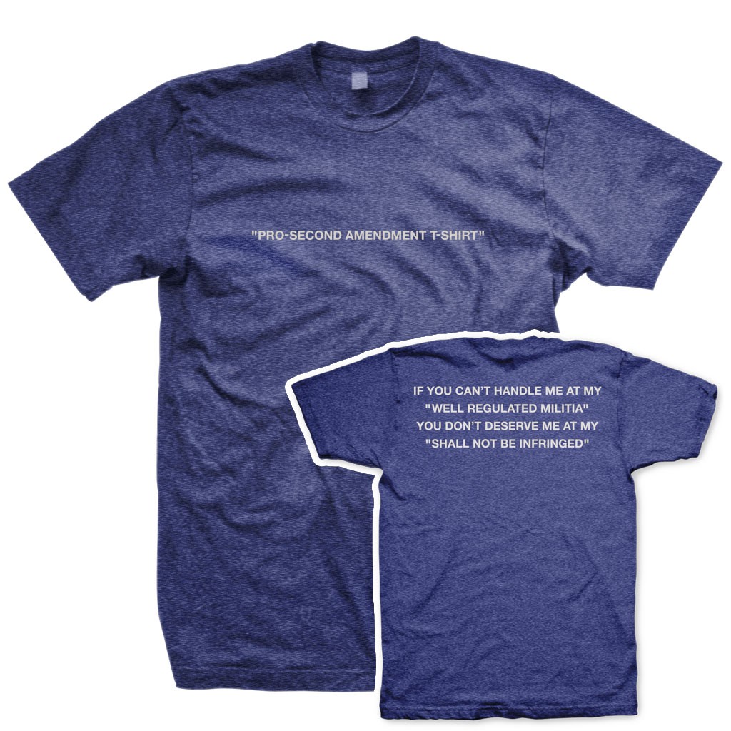 Pro-Second Amendment T-Shirt Indigo