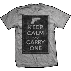 Keep Calm And Carry One T-Shirt (Grey)