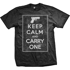 Keep Calm And Carry One T-Shirt (TriBlack)