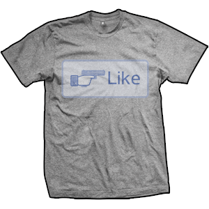 Like Shooting Button T-Shirt (TriGrey)