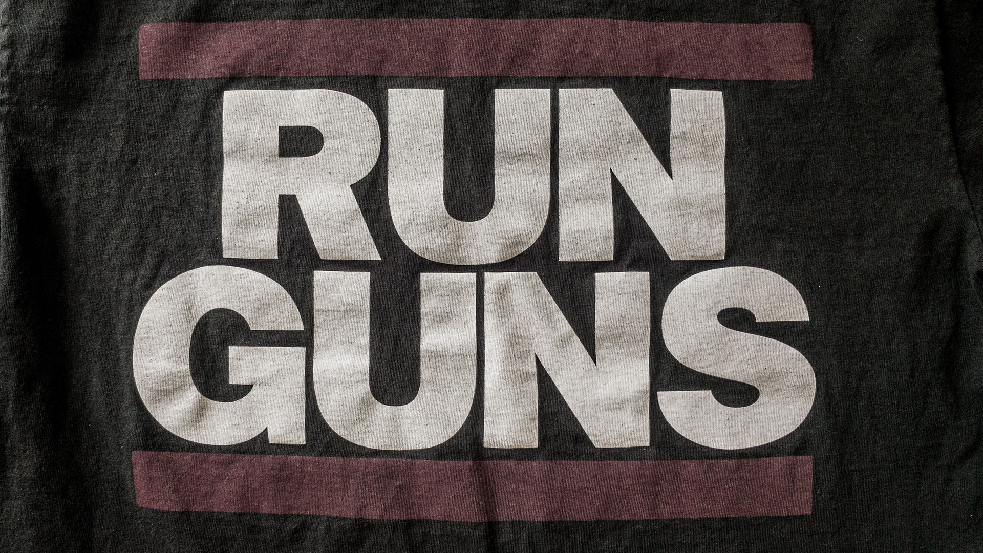 Run Guns T-shirt Detail