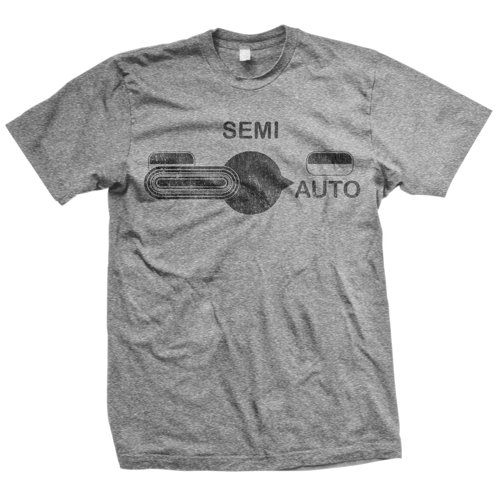 M16 Fire Selector Switch T-Shirt Grey